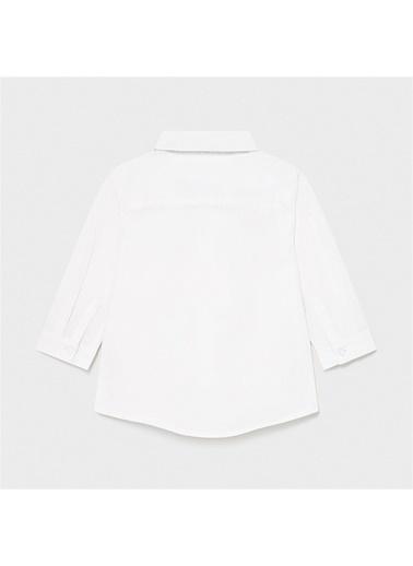 Mayoral Mayoral Erkek Bebek Papyonlu Gömlek Beyaz 20828 Beyaz